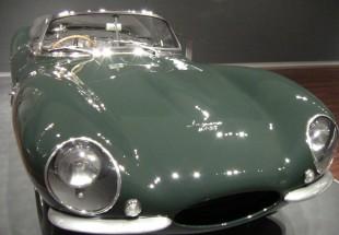 Front view of Steve McQueen's Jaguar