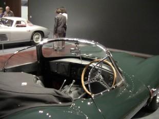 Steve McQueen's Jag (foreground) and Ingrid Bergman's Ferrari