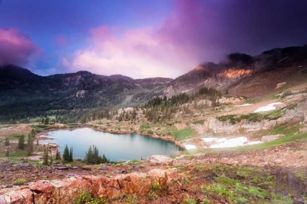 Cecret Lake at Sunset