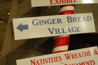 Ginger Bread Village sign