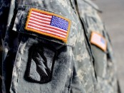 National Guard patches on uniform