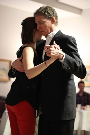 Mark Christensen and Alexa Mareschal dance the tango