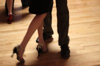 Feet moving during tango dance