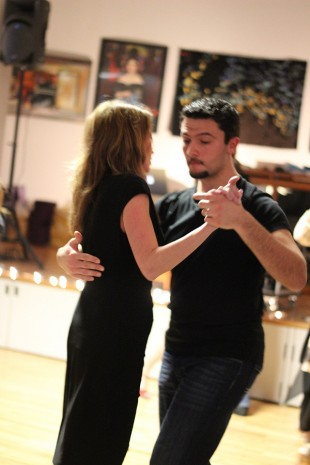 Atakan Ekiz, right, dances with Tonya Jacobs