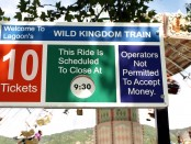 Wild Kingdom Train sign