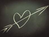 Heart on a chalkboard (Shutterstock)