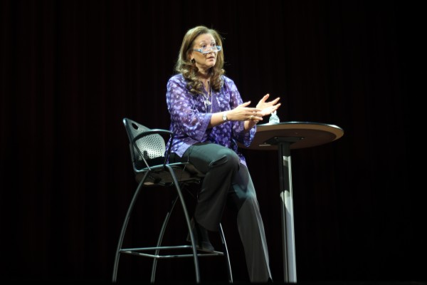 Michele Norris speaking about race at The Grand Theatre.