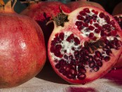 Pomegranates are high in vitamins C, B5 and K.