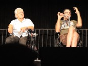 David Prowse, left, and Peter Mayhew
