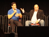 Lou Ferrigno, left, and Tony Toscano