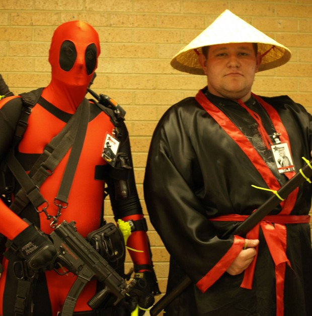 Austin Combs(left) and Colby Leto show off their costumes at the Anime Fest.
