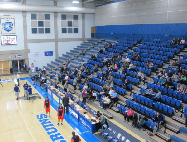 Few fans attend SLCC basketball games.
