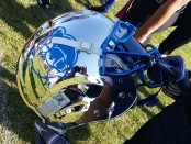 Bruins football helmet