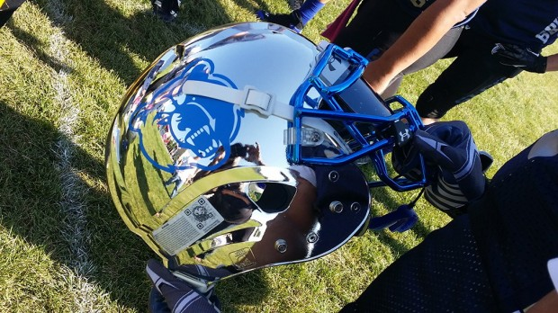 Bruins football helmet