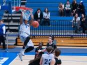 NJCAA mens basketball game, Salt Lake Community College vs Colorado Northern Community College with Freshman Guard, Gary Payton II (#1).