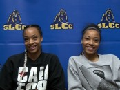 Monique Mills, left, and twin sister Dominique