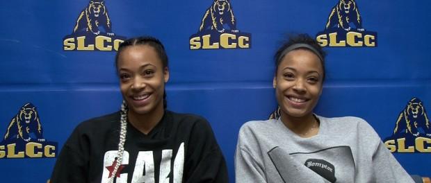 Monique Mills, left, and twin sister Dominique