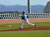 Bruin pitcher on the mound