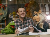 Kermit, Jason Segel and Miss Piggy