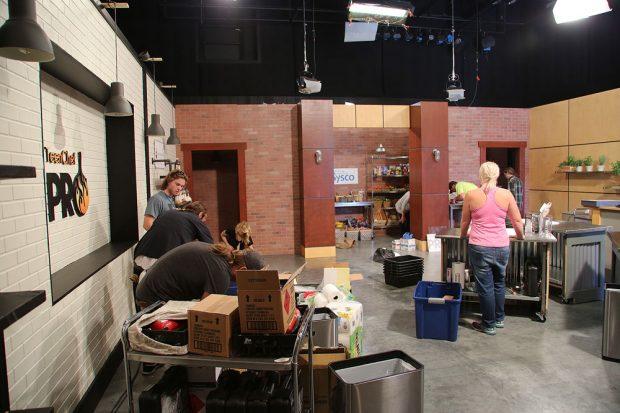TV crew on set