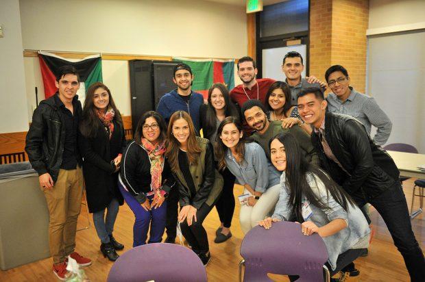 International student group photo
