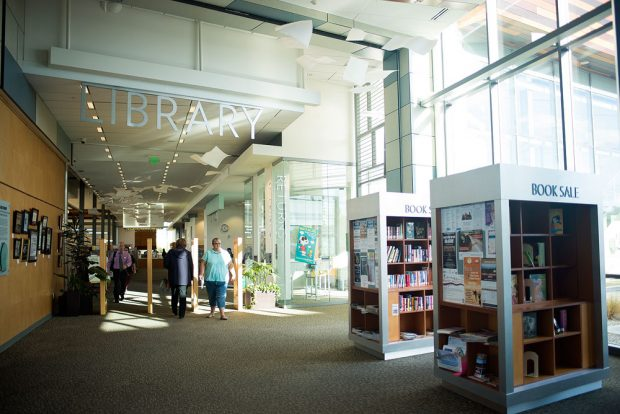 Inside the West Jordan library