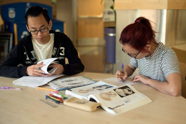 Toan Nguyen and Thuy Phan study