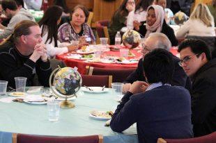 Guests conversing