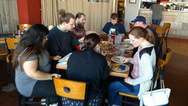 Social work club lunch