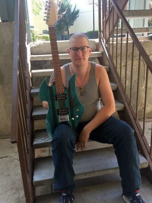 Sean Cuny with his guitar