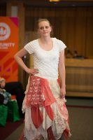 Sustainable Fashion Show model