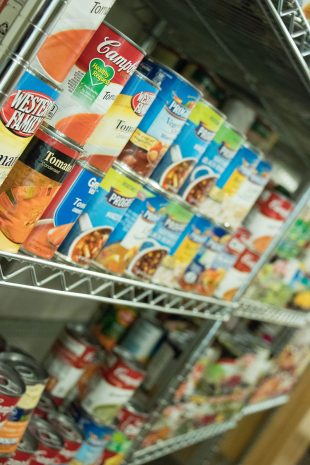 Full pantry shelves