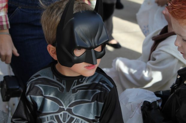 Kid dressed as Batman