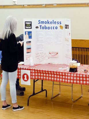 Smokeless tobacco booth