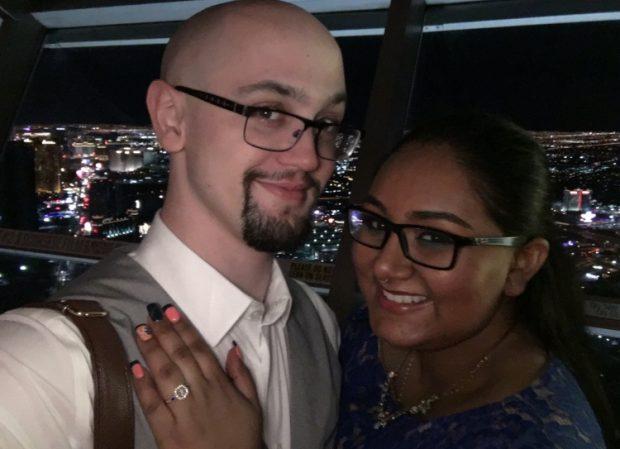 Jake Zaugg with fiancée Amy Elizabeth.