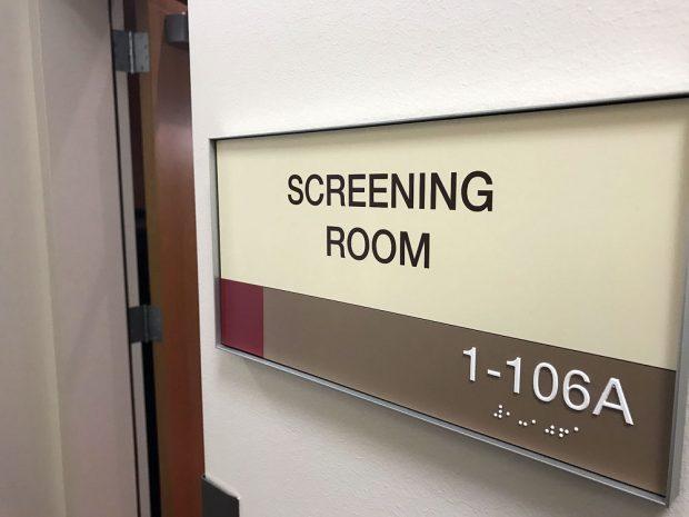 Screening room sign