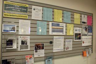 Career Services bulletin board