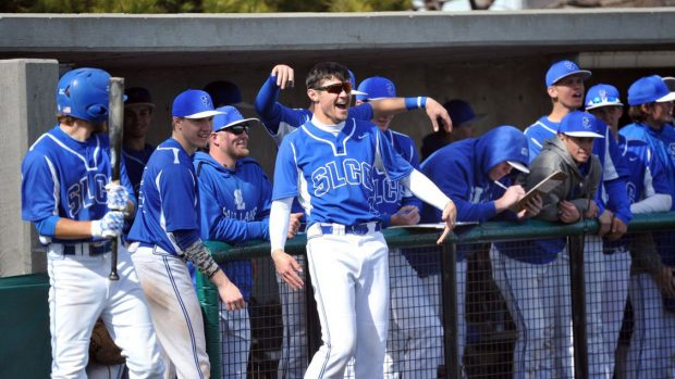Bruin baseball team celebration