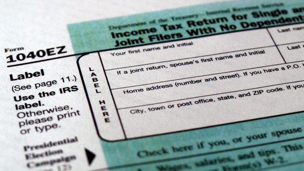 Blank tax form