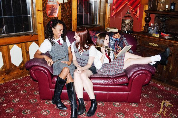 Marlene, Lily, and Alice in Common Room
