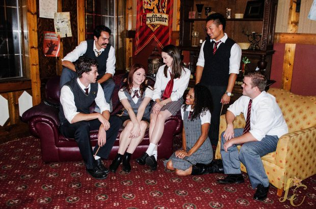 The Gryffindors in the Common Room