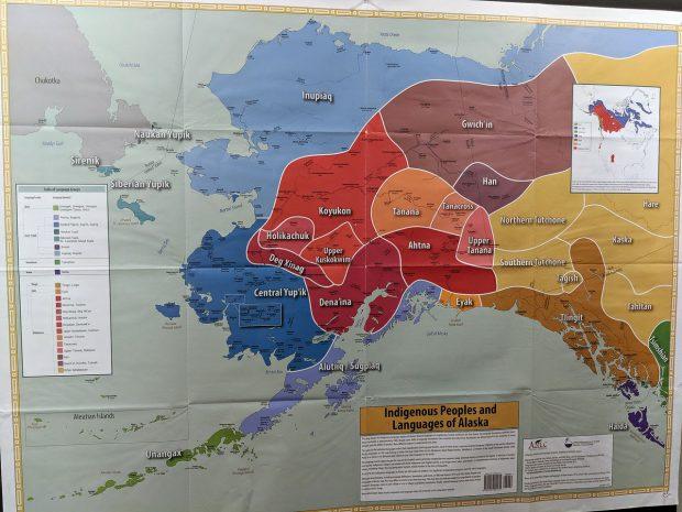 Map of Native Alaskan peoples