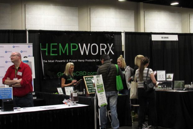 HempWorx booth at Utah Cann