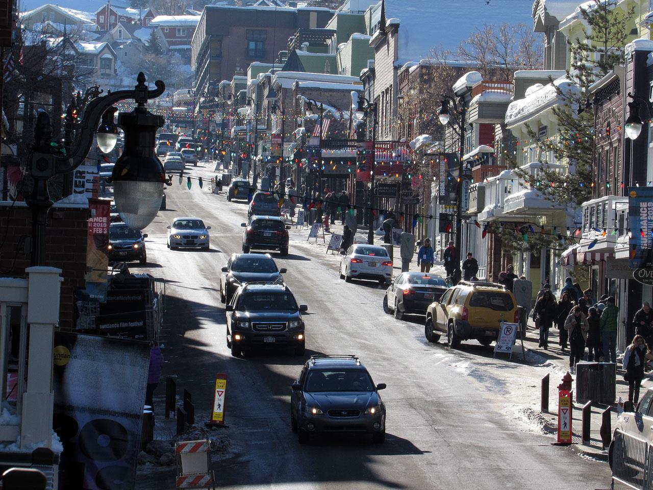 Sundance traffic in Park City