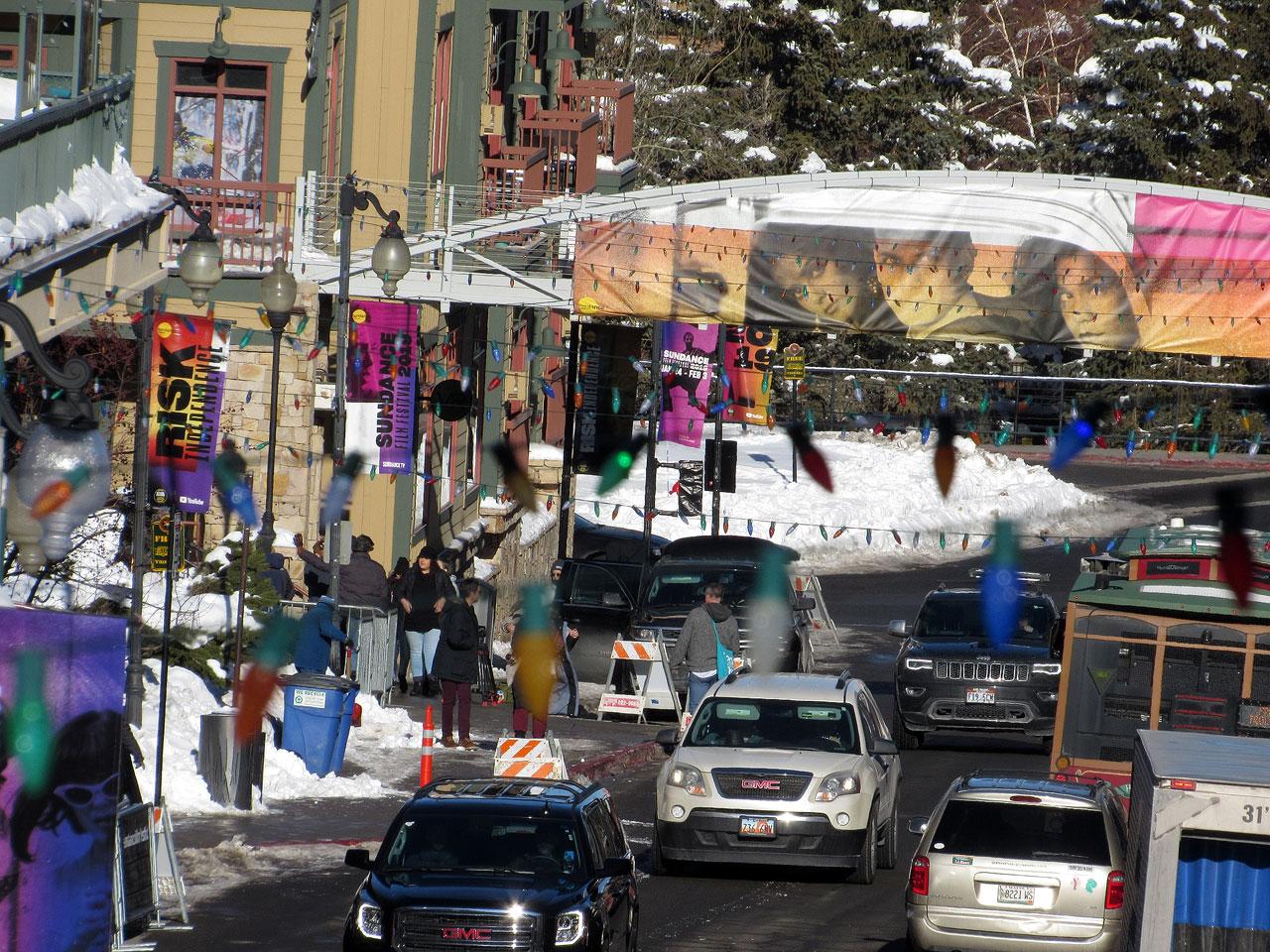 Park City traffic during Sundance