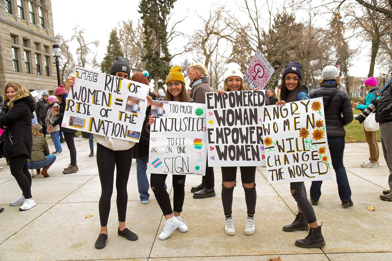 Women's March 2019 participants