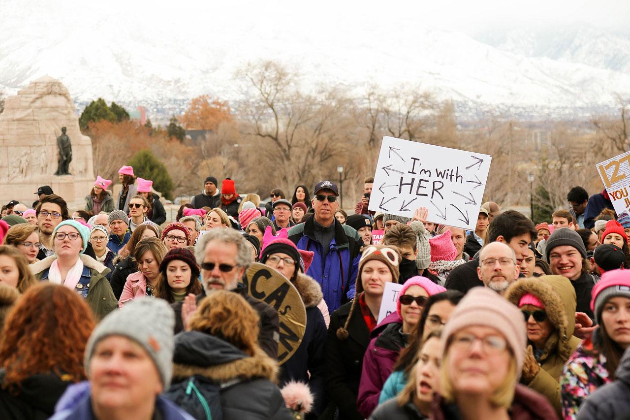 Women's March crowd