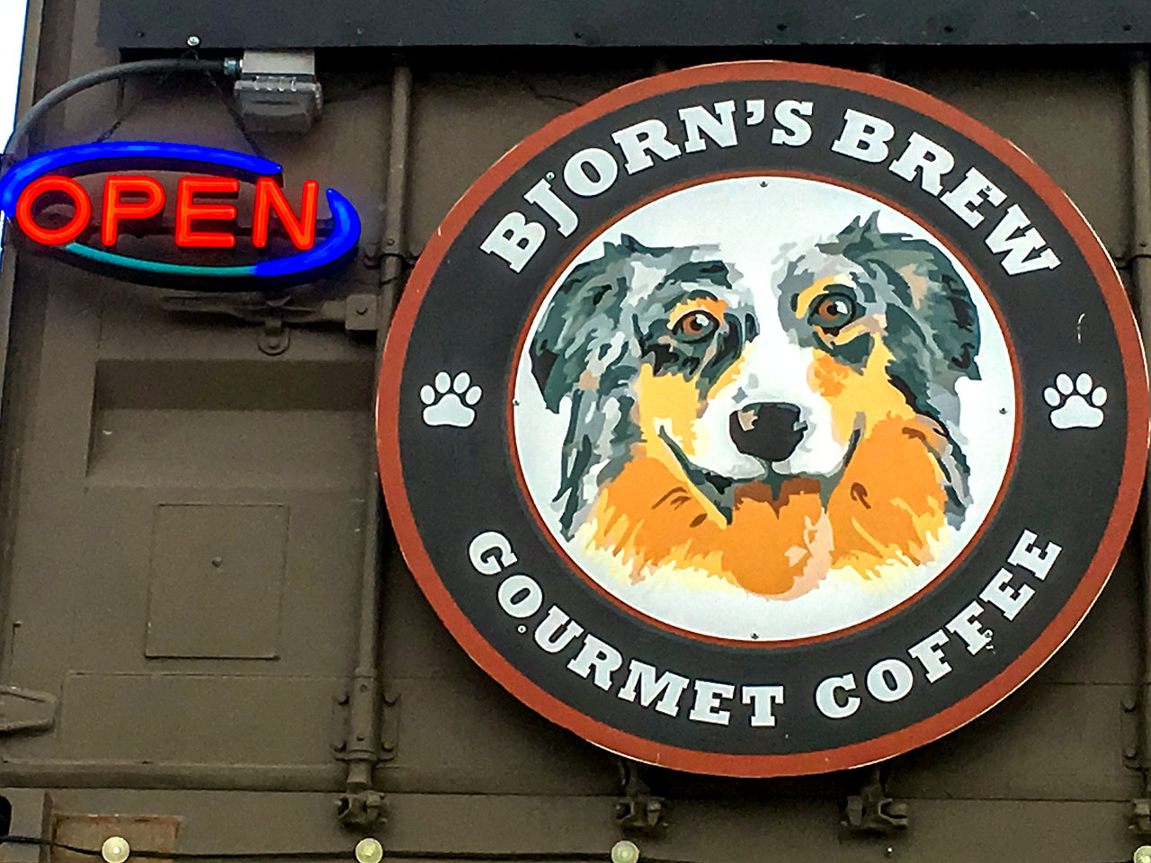 Bjorn's Brew sign