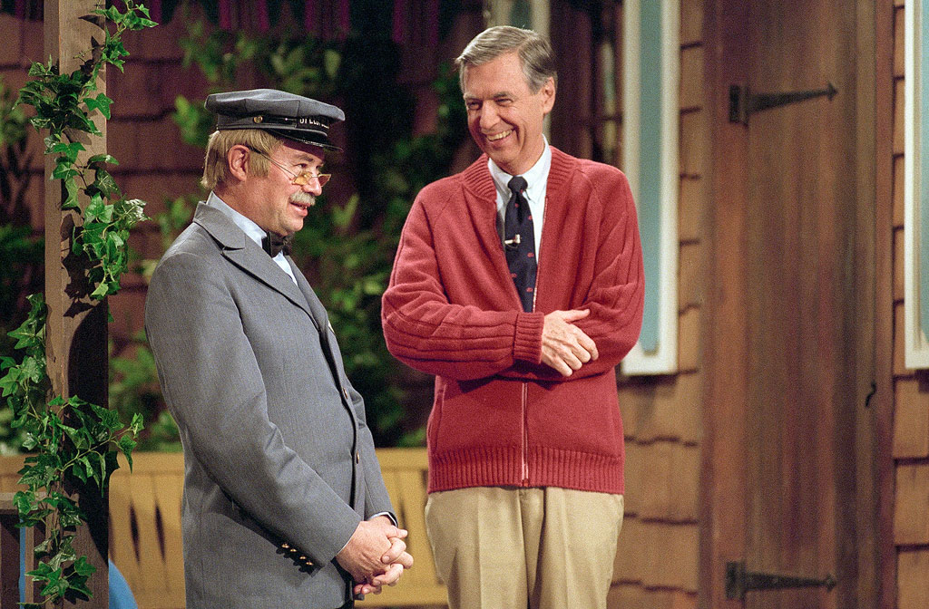Fred Rogers, right, and David Newell