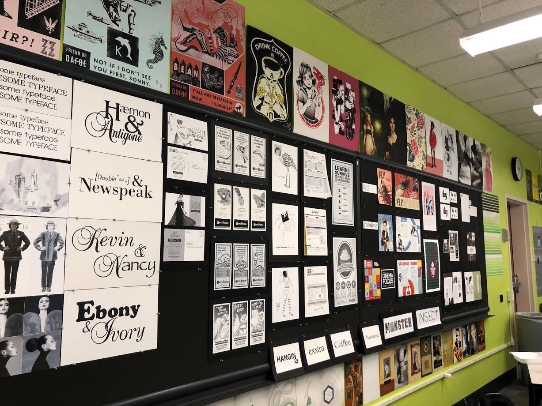 Visual Art and Design Department green room